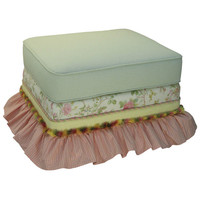 Angel Song 221720108 English Bouquet Adult Empire Stationary Ottoman