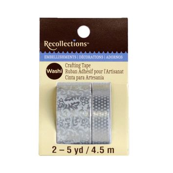 Silver Scroll Print Washi Tape by Recollections™