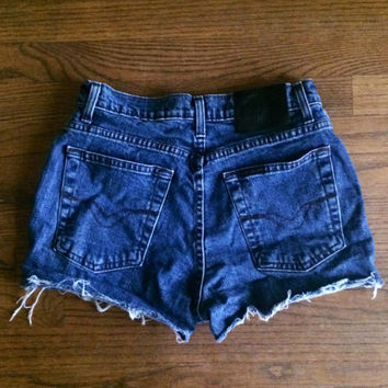 HARLEY DAVIDSON motorcycle vintage high waisted denim shorts women's size 4