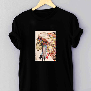 "native american headdress tattoo - T Shirt for man shirt, woman shirt ""01"""