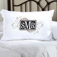 Felicity Cheerful Monogram Pillow Case - CM 6