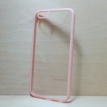iPhone 6 (4.7 inches) Case Silicone Bumper and Clear Hard Plastic Back - Light Pink