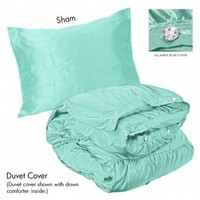 Wake Up Frankie - Romancing the Ruffles Set - Spa Blue (Plain) : Teen Bedding, Pink Bedding, Dorm Bedding, Teen Comforters