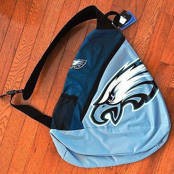 Philadelphia Eagles BackPack / Back Pack Book Bag NEW - TEAM COLORS - SLING