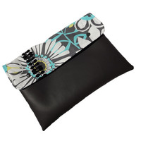 Ruth Ann, grey vegan leather clutch, ipad case, cover