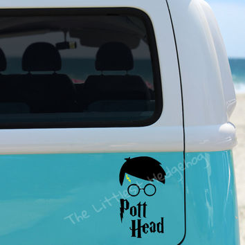 Pott Head Harry Potter Car Decal