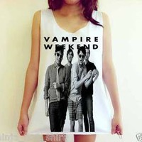 Vampire Weekend punk rock Blink 182 Band Nirvana Unisex Tank Top Shirt Free Size
