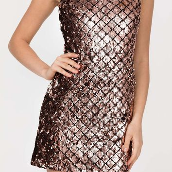 Monaco Gold Sequined Dress