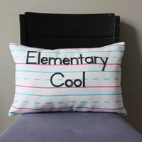 Penmanship Pillow - Elementary Cool
