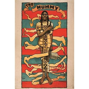 JOHN HASSALL the mummy VINTAGE ART POSTER historic egyptian COLLECTORS 24X36