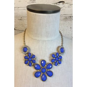 FLower Necklace: Blue