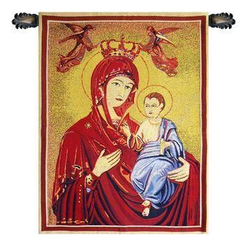 Madonna and Child II Tapestry Wall Art Hanging