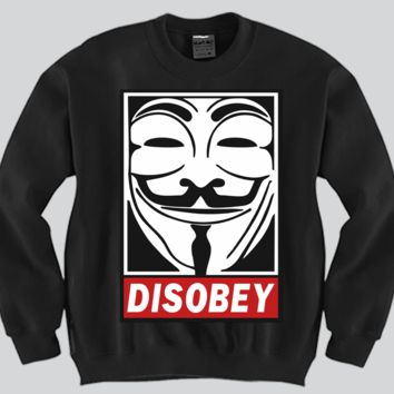 Disobey Crewneck Funny and Music