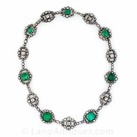 Antique Emerald and Diamond Necklace - Victorian Jewelry - Shop for Jewelry