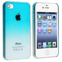 Amazon.com: eForCity Snap-on Case compatible with Apple® iPhone® 4 / 4S , Clear Sky Blue Waterdrop: Cell Phones & Accessories