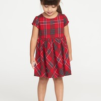 Plaid Fit & Flare Dress for Toddler Girls | Old Navy