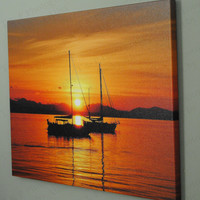 Sailing Sailboat photo canvas art gift 16 x 20 inch canvas on a .75 width solid wood frame