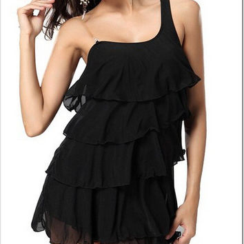 Ruffle One Piece Dress [4915016068]