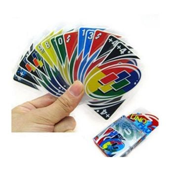 """UNO""  Waterproof Playing Cards Game For Family & Friends"