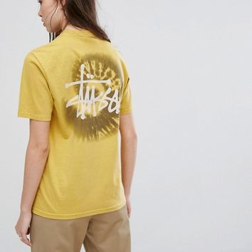 Stussy Oversized T-Shirt With Swirl Print at asos.com
