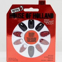 House of Holland Luxe by Elegant Touch Stiletto Nails - Ruby Tuesday at asos.com