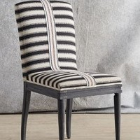 Tracey Boyd Grassland Stripe Dining Chair in Black & White Size: One Size Furniture