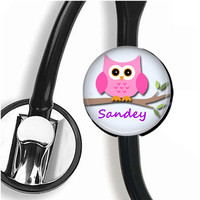 OWL Stethoscope ID Name Tag Customizable