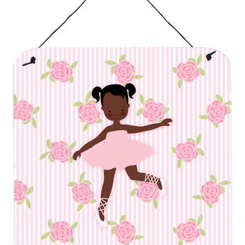 Ballerina African American Ponytails Wall or Door Hanging Prints BB5192DS66