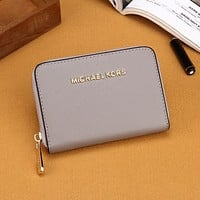 Gray MK Michael Kors Leather Wallet