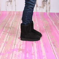 Black Comfy Boots - Ryleigh Rue Clothing by MVB