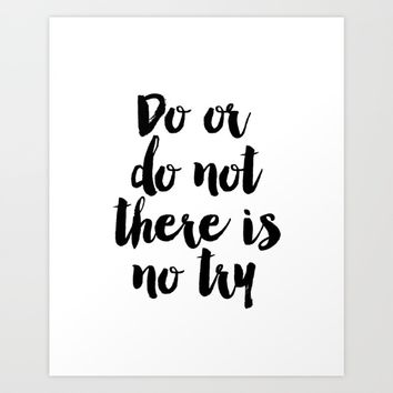 Do Or Do Not There Is No Try - Yoda - Inspirational Quote - Dictionary Print Book Art Print Art Print by PrintableLifeStyle
