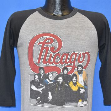 80s Chicago Rock Band 1983 tour Jersey t-shirt Medium