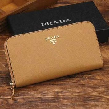 PEAPJ3V Prada Women Fashion Leather Zipper Wallet Purse-21