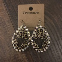 Bull head Teardrop Earrings