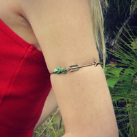 arrow turquoise armlet, upper arm chain, body chain, unique jewelry