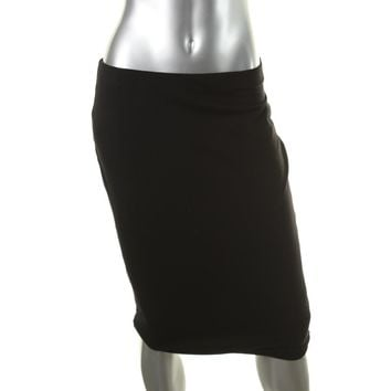 BCX Womens Ponte Midi Pencil Skirt