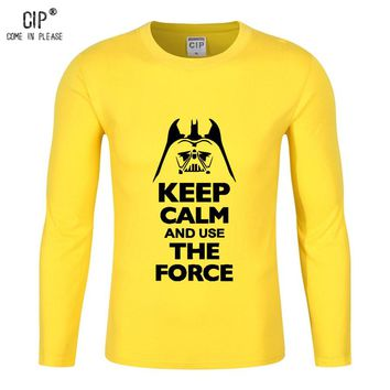 100%Cotton Star Wars T Shirt Kids Boy Girls Children Cotton Baby Tshirt Keep Calm And Use The Force School Shirts For Boys CL182