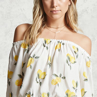 Lemon Off-the-Shoulder Top