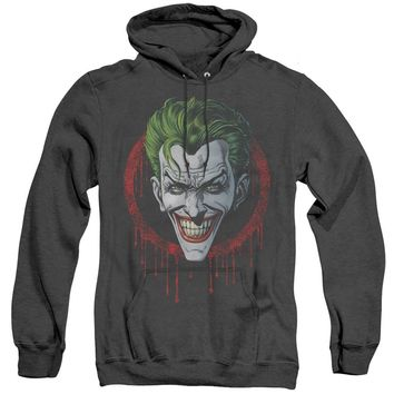 Batman Heather Hoodie Joker Drip Black Hoody