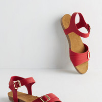 Beaufort Beauty Sandal in Crimson | Mod Retro Vintage Sandals | ModCloth.com