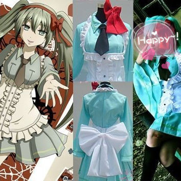 Vocaloid Hatsune Miku Mr. Alice Dress Custom Cosplay Costume