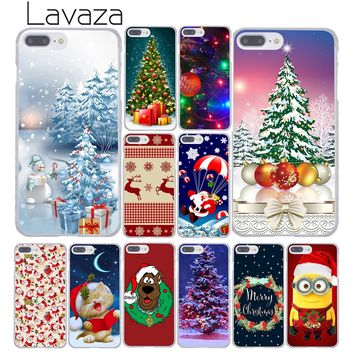 Lavaza New Year Snowman Merry Christmas Santa Claus Phone Case for Apple iPhone  8 7 6 6S Plus 5 5S SE 5C 4 4S X 10 Coque Shell