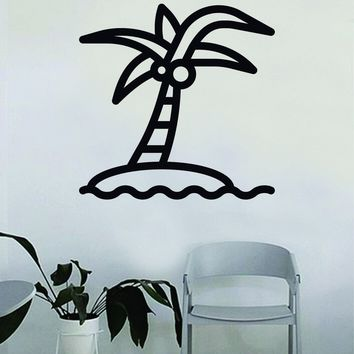 Coconut Palm Tree Decal Sticker Wall Vinyl Decor Art Living Room Bedroom Kids Nursery Baby Teen Nature Beach Ocean