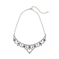 Blue Diamond Necklace with Earrings