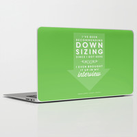 The Office Dwight Schrute Quote Season 1 Episode 1 - Downsizing - Green and White Laptop & iPad Skin by Noonday Design