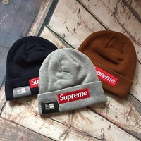 street fashion supreme embroidered knitted hat