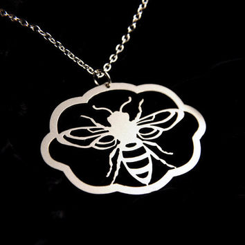 Silhouette Honey Bee necklace