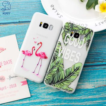 KRY 3D Floral Phone Cases For Samsung Galaxy S7 edge S8 S9 Plus Cases Soft Silicon Cover For Samsung Galaxy A5 J5 2017 Case