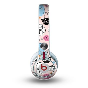 The Subtle Pink And Purses Skin for the Beats by Dre Mixr Headphones