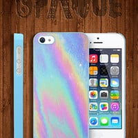 Pastel Galaxy Metallic Oil Print Apple iPhone 5 5s & 4 4s Durable Hard Case - In Multiple Colours - Hipster Indie Grunge Vintage Tumblr